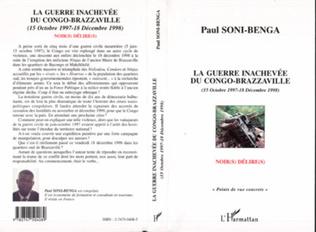 Couverture LA GUERRE INACHEVÉE DU CONGO-BRAZZAVILLE (15 OCTOBRE 1997-18