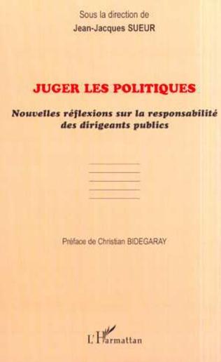 Couverture JUGER LES POLITIQUES