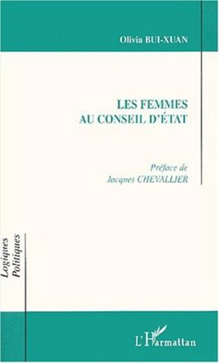 Couverture LES FEMMES AU CONSEIL D'ÉTAT