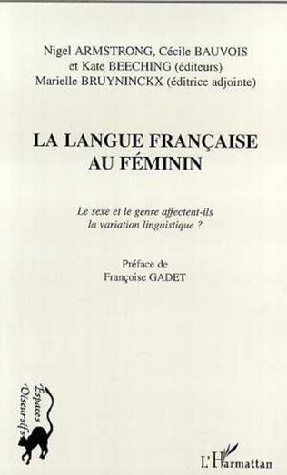 Couverture LA LANGUE FRANÇAISE AU FÉMININ