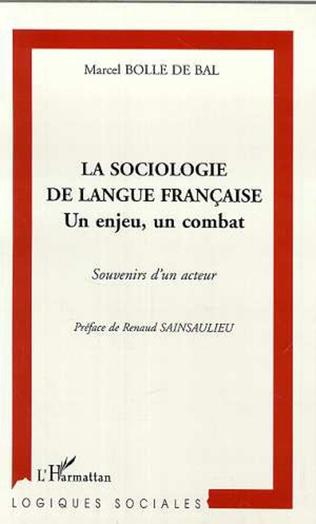 Couverture LA SOCIOLOGIE DE LANGUE FRANÇAISE