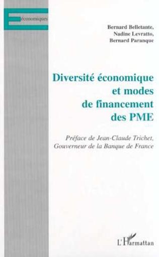 Couverture DIVERSITÉ ÉCONOMIQUE ET MODES DE FINANCEMENT DES PME