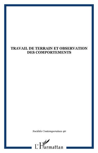 Couverture Travail de terrain et observation des comportements