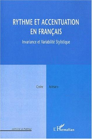 Couverture RYTHME ET ACCENTUATION EN FRANÇAIS
