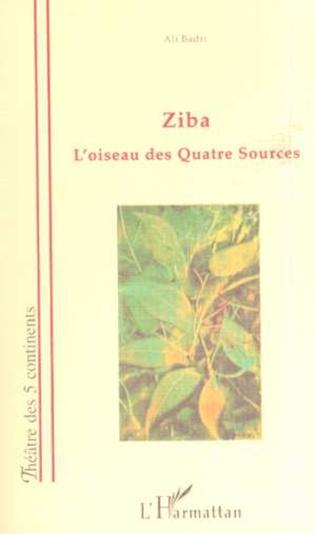 Couverture ZIBA L'OISEAU DES QUATRE SOURCES