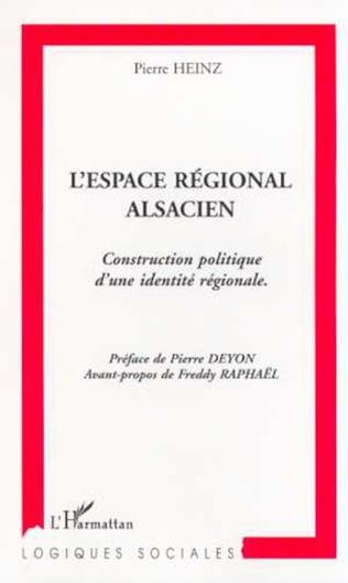 Couverture L'ESPACE REGIONAL ALSACIEN