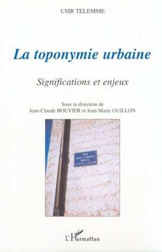 Couverture LA TOPONYMIE URBAINE