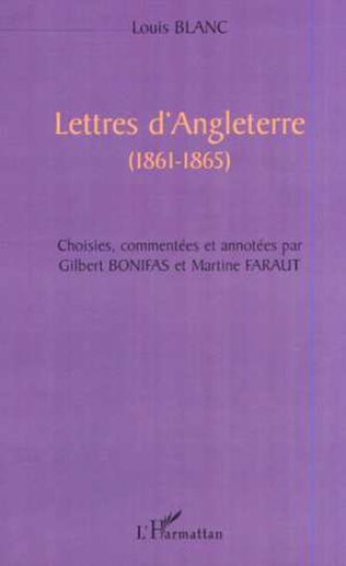 Couverture LETTRES D'ANGLETERRE (1861-1865)