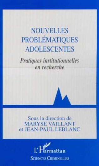 Couverture NOUVELLES PROBLÉMATIQUES ADOLESCENTES