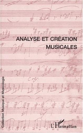 Couverture ANALYSE ET CRÉATION MUSICALES