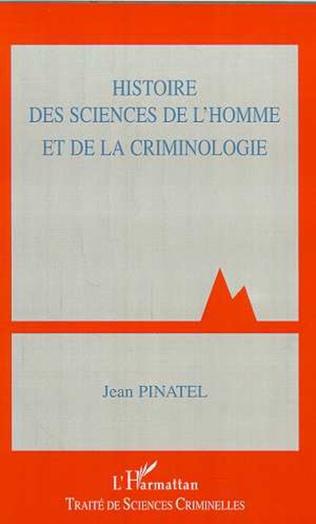 Couverture HISTOIRE DES SCIENCES DE L'HOMME ET DE LA CRIMINOLOGIE