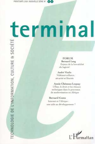 Couverture TERMINAL N° 84