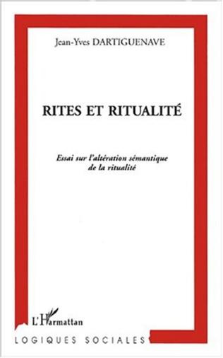Couverture RITES ET RITUALITÉ