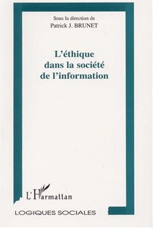 Couverture L'ÉTHIQUE DANS LA SOCIÉTÉ DE L'INFORMATION