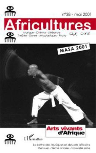 Couverture Arts vivants d'Afrique (MASA 2001)