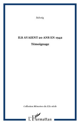 Couverture ILS AVAIENT 20 ANS EN 1942
