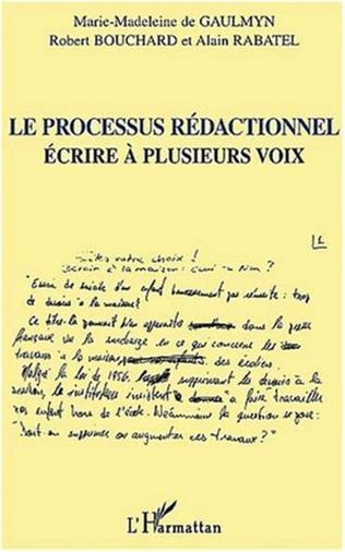 Couverture LE PROCESSUS RÉDACTIONNEL
