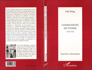 Couverture COMMUNISTES DE TUNISIE 1939-1943