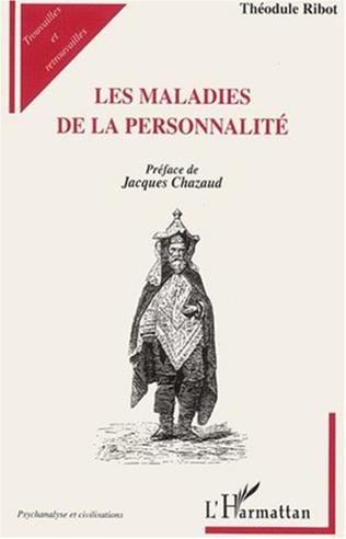 Couverture LES MALADIES DE LA PERSONNALITÉ