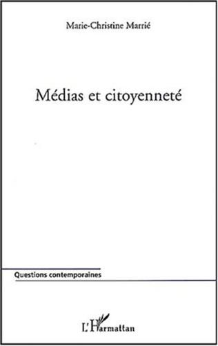 Couverture MEDIAS ET CITOYENNETÉ