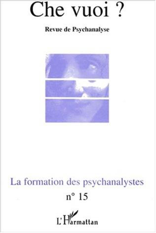 Couverture LA FORMATION DES PSYCHANALYSTES