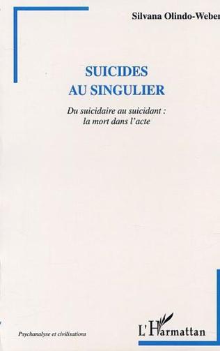 Couverture SUICIDES AU SINGULIER
