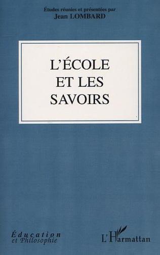 Couverture L'ÉCOLE ET LES SAVOIRS
