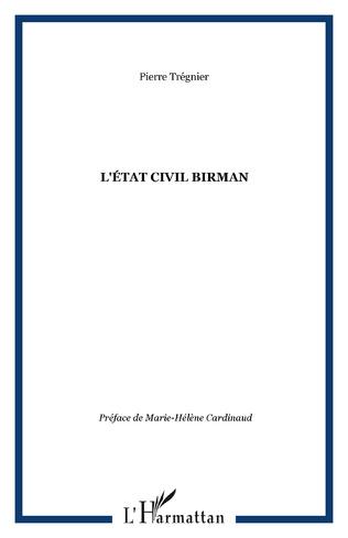 Couverture L'ÉTAT CIVIL BIRMAN
