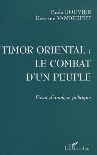 Couverture TIMOR ORIENTAL : LE COMBAT D'UN PEUPLE