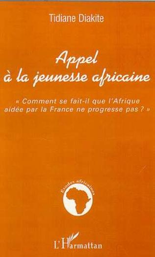 Couverture APPEL À LA JEUNESSE AFRICAINE