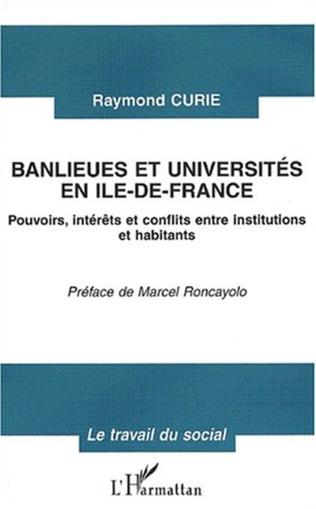 Couverture BANLIEUES ET UNIVERSITÉS EN ILE-DE-FRANCE