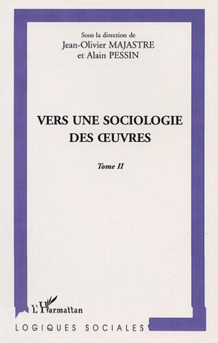Couverture VERS UNE SOCIOLOGIE DES ŒUVRES