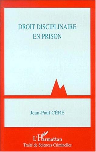 Couverture DROIT DISCIPLINAIRE EN PRISON