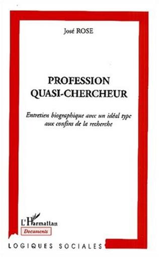 Couverture PROFESSION QUASI-CHERCHEUR