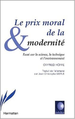 Couverture LE PRIX MORAL DE LA MODERNITÉ