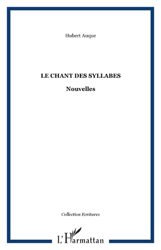 Couverture Le chant des syllabes
