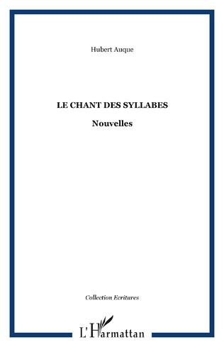 Couverture Le chant des syllabes