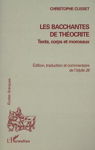 Couverture LES BACCHANTES DE THÉOCRITE