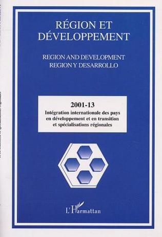 Couverture INTÉGRATION INTERNATIONALE DES PAYS EN DÉVELOPPEMENT ET EN TRANSITION ET SPÉCIALISATIONS RÉGIONALES
