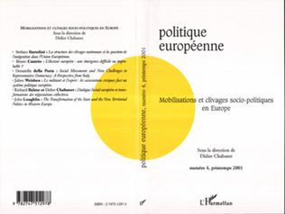 Couverture MOBILISATIONS ET CLIVAGES SOCIO-POLITIQUES EN EUROPE