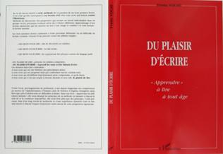 Couverture DU PLAISIR D'ÉCRIRE