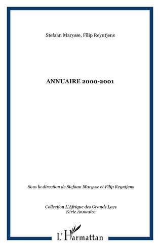 Couverture Annuaire 2000-2001