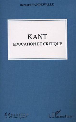 Couverture Kant, éducation et critique