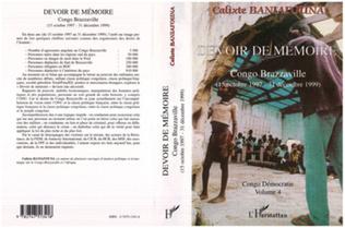 Couverture DEVOIR DE MÉMOIRE CONGO BRAZZAVILLE (15 octobre 1997 - 31 décembre 1999)