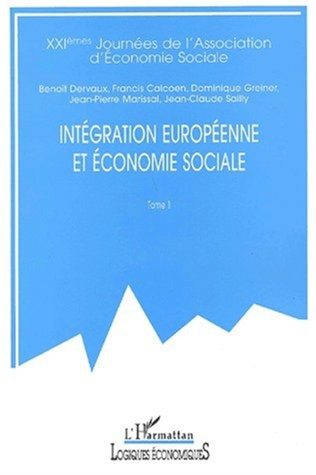Couverture INTÉGRATION EUROPÉENNE ET ÉCONOMIE SOCIALE