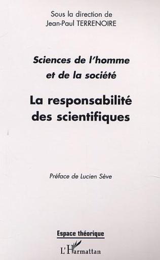 Couverture LA RESPONSABILITÉ DES SCIENTIFIQUES