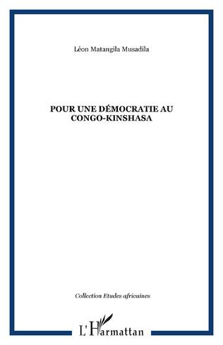Couverture POUR UNE DÉMOCRATIE AU CONGO-KINSHASA