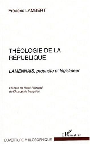 Couverture THÉOLOGIE DE LA RÉPUBLIQUE