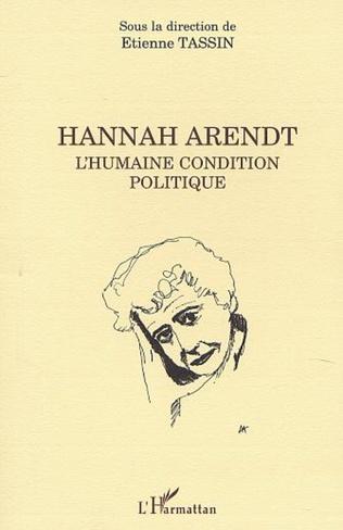 Couverture HANNAH ARENDT L'Humaine condition politique