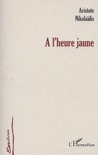 Couverture A L'HEURE JAUNE